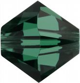 25 x 4mm SWAROVSKI® ELEMENTS Emerald Xilion Beads